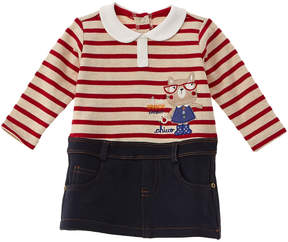 Chicco Girls' Blue & Red One-Piece Polo & Skirt
