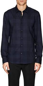 John Varvatos Men's Plaid Slim-Fit Cotton Poplin Shirt