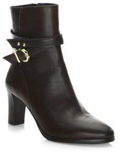 LK Bennett Wrap Heeled Leather Booties