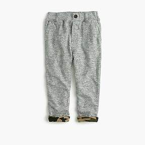 J.Crew Boys' button-front camo-lined sweatpants