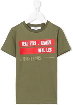 Givenchy Kids slogan printed T-shirt