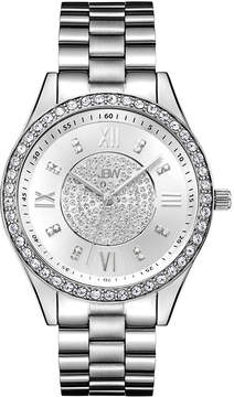 JBW Mondrian Womens Diamond- and Crystal-Accent Stainless Steel Bracelet Watch J6303A