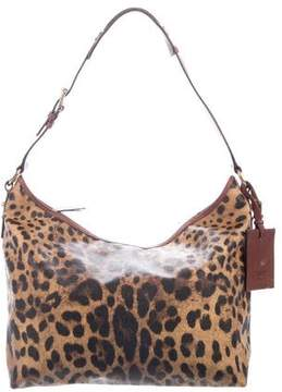 Dolce & Gabbana Leather-Trimmed Hobo