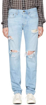 Rag & Bone SSENSE Exclusive Blue Standard Issue Fit 3 Jeans
