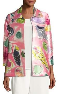 Caroline Rose Beachy Keen Printed Lady Jacket, Petite
