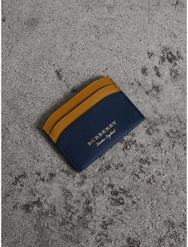 Burberry Two-tone Trench Leather Card Case