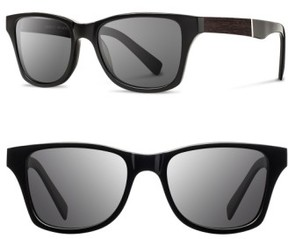 Shwood Women's 'Canby' 53Mm Sunglasses - Black/ Ebony/ Grey