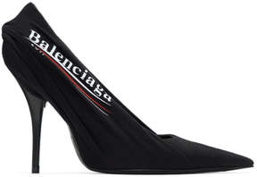 Balenciaga Black Campaign Logo Knife Heels