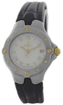 Ebel Sportwave E6087621 18K Gold Steel Date Quartz 28mm Womens Watch