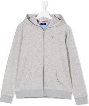 Gant Kids Teen embroidered logo hoodie