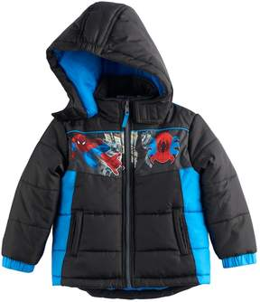 Marvel Toddler Boy Spider-Man Puffer Heavyweight Jacket