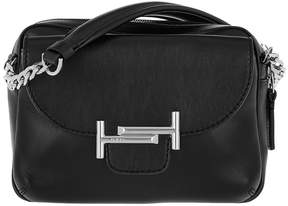 Tod's Double T Camera Bag Calf Leather Black