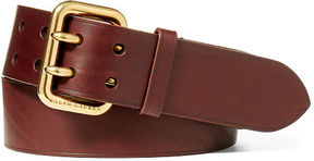 Ralph Lauren Double-Prong Vachetta Belt