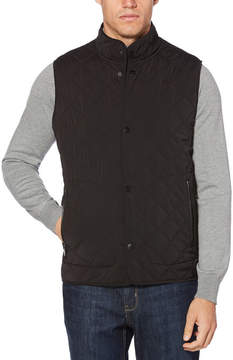 Perry Ellis Snap Front Quilted Vest
