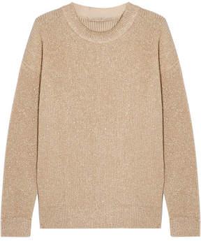 Vanessa Bruno Hodaya Metallic Ribbed-knit Sweater - Gold