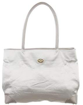 Bottega Veneta Satin Leather-Trimmed Tote