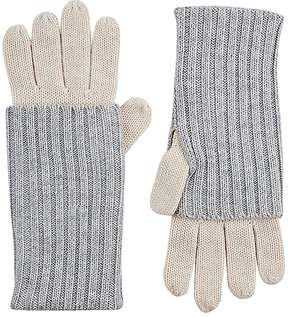 Barneys New York WOMEN'S LAYERED-LOOK STOCKINETTE-STITCHED GLOVES