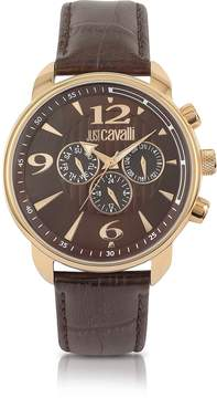 Just Cavalli Earth - Brown Croco Multifunction Watch