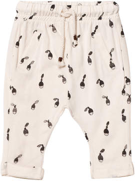 Emile et Ida Cream Hazelnut Print Trousers