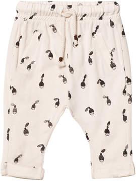 Emile et Ida Cream Hazelnut Print Trousers