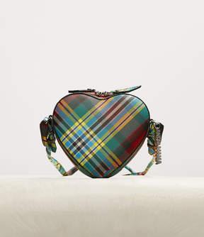 Tartan Heart Cross Body Bag