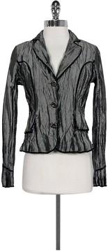 Alberto Makali Grey Crinkled Jacket