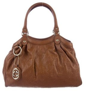 Gucci Medium Guccissima Sukey Tote - BROWN - STYLE