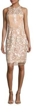 Betsey Johnson Embroidered Mesh Dress