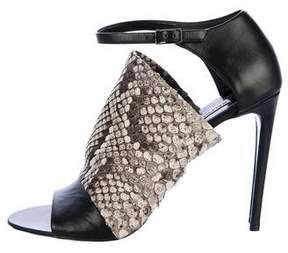 Balenciaga Snakeskin Glove Sandals