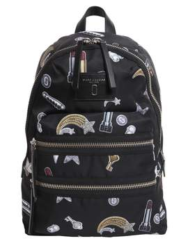 Marc Jacobs Biker Backpack With Printed Charms - NERO - STYLE