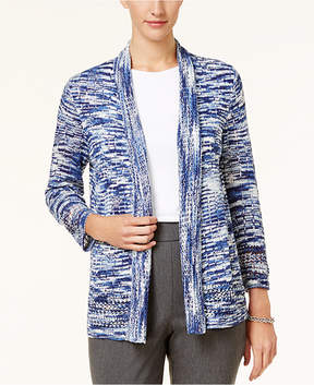 Alfred Dunner Gypsy Moon Space-Dyed Open-Front Cardigan