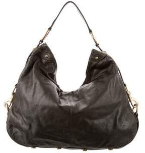 Rebecca Minkoff Grained Leather Hobo - GREEN - STYLE