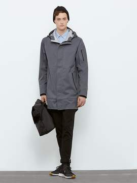 Frank and Oak State Concepts Triple Torrent Fishtail Raincoat in Grey