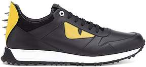 Fendi Black And Yellow Bag Bugs Sneakers
