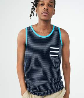 Aeropostale Nautical Stripe Pocket Tank