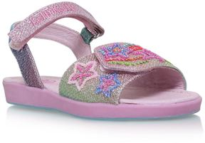Lelli Kelly Kids Rainbow Star Sandals