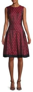 Carmen Marc Valvo Drop Waist Fit & Flare Dress