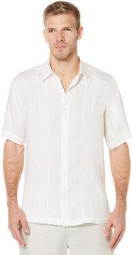 Cubavera 100% Linen Short Sleeve Corded Shirt