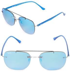 Ray-Ban Women's Square Mirrored Sunglasses