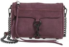 Rebecca Minkoff Mini MAC Nubuck Convertible Crossbody Bag - Burgundy