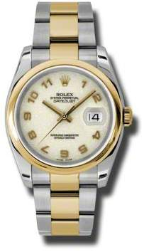 Rolex Datejust 36 Ivory Dial Stainless Steel and 18K Yellow Gold Oyster Bracelet Automatic Men's Watch