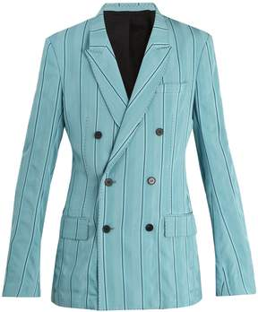 Haider Ackermann Shawl-lapel pinstriped blazer