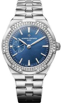 Vacheron Constantin Overseas Stainless Steel with Blue Lacquered Dial Automatic 37 mm Womens Watch