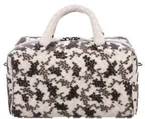 Bottega Veneta Flocked Velvet Bouquet Duffel Bag w/ Tags