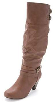 Rampage Womens Edsel Almond Toe Mid-calf Fashion Boots.