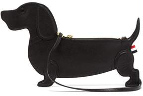 Thom Browne Hector Pebble Grained Leather Daschund Clutch - Womens - Black