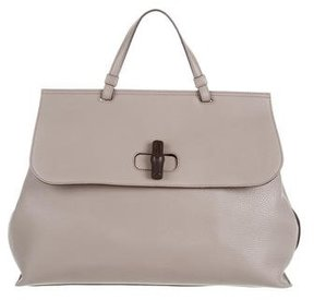 Gucci Large Bamboo Daily Bag - GREY - STYLE