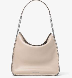Michael Kors Astor Studded Large Hobo Bag - Cement - 30T6SATH3L-092 - BLACK - STYLE