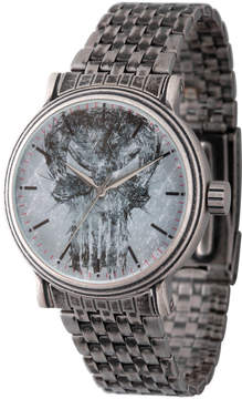 Marvel Mens Silver Tone Strap Watch-Wma000198