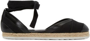 Pierre Hardy Black Leather Bauhaus Beach Espadrilles
